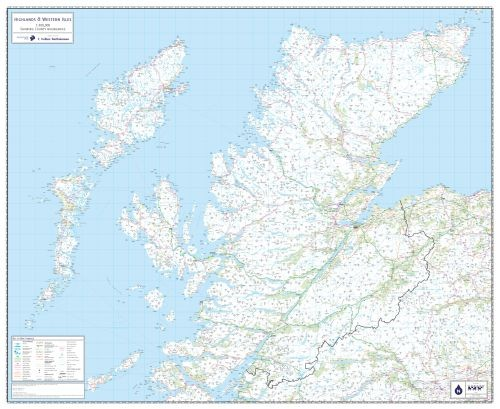 The Highlands and Western Isles Wall Map