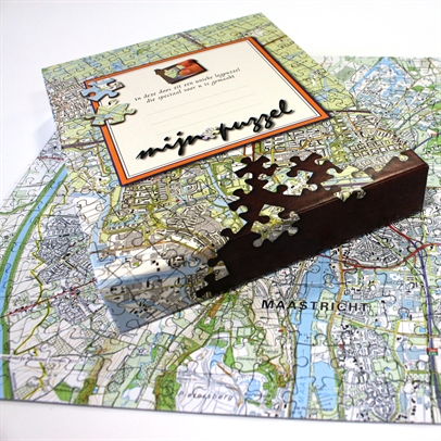 The Netherlands Personalised Jigsaw – Topographical Map