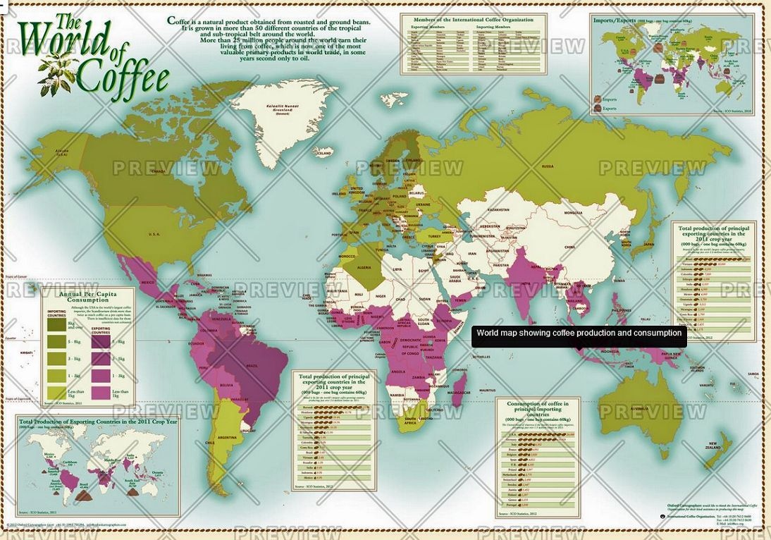 The world of coffee by oxford cartographers gumiabroncs Image collections