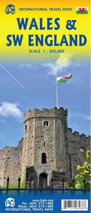 Wales & South West England Travel Holiday Map