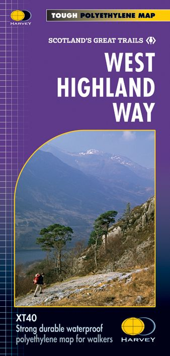 West Highland Way - Harvey Long Distance Path Map