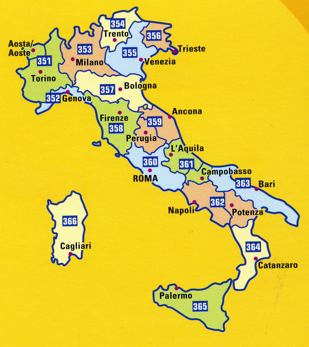 Michelin Yellow Map of Italy 1200000
